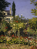 Garden in Bloom, c.1866 Art by Claude Monet