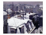 Rooftops in the Snow, c.1878 Reproduction procédé giclée par Gustave Caillebotte