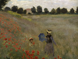 Poppy Field at Argenteuil, c.1873 Giclée-trykk av Claude Monet