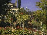 Garden in Bloom, c.1866 Poster by Claude Monet