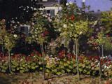 Garden in Bloom, c.1866 Kunstdrucke von Claude Monet
