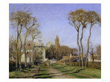 Entrance to the Village of Voisins, c.1872 Giclee Print by Camille Pissarro