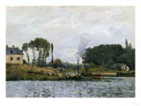 Boats at the Floodgate of Bougival, c.1873 Prints by Alfred Sisley