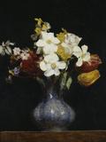 Daffodils and Tulips, c.1862 Giclée-tryk af Henri Fantin-Latour