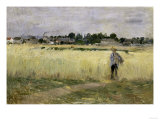 In the Cornfields at Gennevilliers, c.1875 Poster by Berthe Morisot