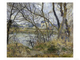 Banks of the River Oise, c.1878 Giclee Print by Camille Pissarro