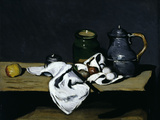 Still-Life with Teapot, c.1869 Giclee Print by Paul Cézanne