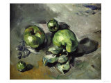 Green Apples, c.1873 Art by Paul Cézanne