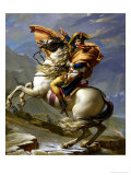 Napoleon Crossing the Alps, c.1800 Gicléetryck av Jacques-Louis David
