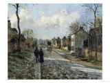 Road in Louveciennes, c.1872 Posters by Camille Pissarro
