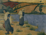 Washerwomen on the Laita, c.1892 Affischer av Paul Serusier