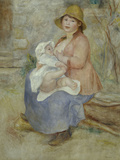 Mother&#39;s Joy, c.1885 Giclee Print by Pierre-Auguste Renoir