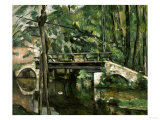 Bridge in Maincy, c.1879 Giclee Print by Paul Cézanne