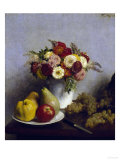 Flowers and Fruits, c.1865 Giclee Print by Henri Fantin-Latour
