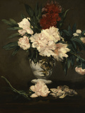 Vase with Peonies on a Pedestal, c.1864 Print by Édouard Manet