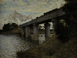 Railway Bridge at Argenteuil, c.1873 Giclee Print by Claude Monet