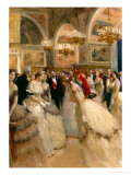 At the Ball Reproduction procédé giclée par Auguste Francois Gorguet