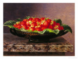 Strawberries in a Greek Kylix Giclee Print by Johan Laurentz Jensen