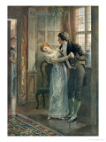 Under the Mistletoe Giclee Print by Edward Frederick Brewtnall