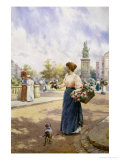 Parisian Flower Seller Giclee Print by Alfred Augustus Glendenning