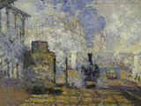 Gare Saint-Lazare, c.1877 Prints by Claude Monet