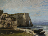 Cliffs at Etretat after a Storm, c.1870 Giclee Print by Gustave Courbet