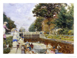 Boulters Lock on the Thames Giclee Print by Edward John Gregory