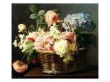 Still Life of Flowers in a Basket Giclee Print by Antoine Berjon