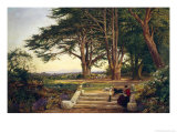 Reading on the Terrace Steps Reproduction procédé giclée par Benjamin Williams Leader