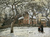 Chestnut Trees in Louveciennes, c.1872 Giclee Print by Camille Pissarro