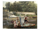 The Boating Party Giclee Print by Oreste Cortazzo
