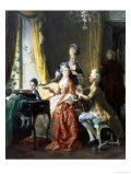 Family Concert Giclee Print by Carl Herpfer