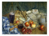 Still Life with Journal Giclee Print by Giuseppe De Sanctis