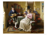 Musical Attentions Giclee Print by Emil Brack