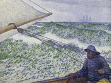 The Man at the Helm, c.1892 Gicleetryck av Théo van Rysselberghe