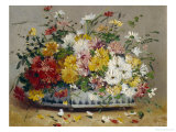 Bowl of Summer Flowers Giclee Print by Eugene Henri Cauchois