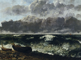 Stormy Sea or The Wave, c.1870 Posters by Gustave Courbet