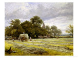 Haymaking Giclee Print by Benjamin Williams Leader