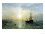 Evening on the Thames Giclee Print by Francis Danby
