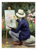 At the Easel Giclee Print by Frank W. Carter