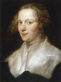 Portrait of a Young Woman Kunstdruck von Anthony Van Dyck