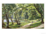Walk in the Park, Copenhagen Giclee Print by Carsten Henrichsen