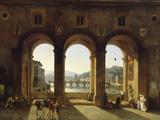 Ponte Vecchio, c.1811 Giclee Print by Lancelot Théodore Turpin De Crissé