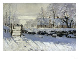 The Magpie, c.1869 Reproduction procédé giclée par Claude Monet