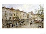 Street Scene in France Giclee Print by Charles De Meixmoron