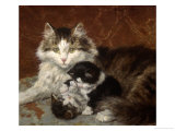 Troublesome Twins Giclee Print by Henriette Ronner Knip