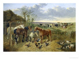 At the Duck Pond Giclee Print by John Frederick Herring II
