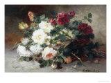 Still Life of Roses Giclee Print by Eugene Henri Cauchois