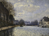 Saint-Martin Canal, c.1870 Art by Alfred Sisley
