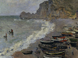 Etretat, The Beach, c.1883 Reproduction procédé giclée par Claude Monet